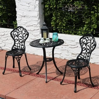 Buy outdoor bistro sets online at overstock our best patio sunnydaze 3 piece patio bistro table chair set furniture options available watchthetrailerfo