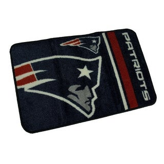 NFL New England Patriots Non-Skid Throw Rug 20 x 30 Rd Corners - navy