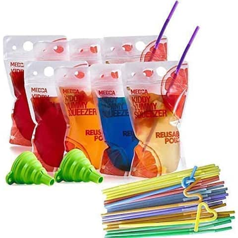 Reusable Drink Pouches-(402 Set)200 Clear Drink Bags-5O-5WMQ-ZERX_1