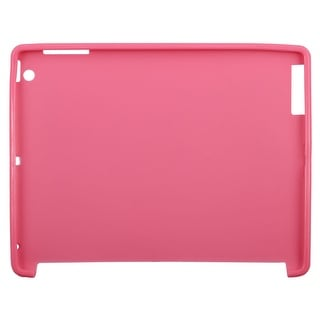 Rubber Shock Proof Prevent Fall Off Tablet Rear Protective Cover Pink for Ipad 2