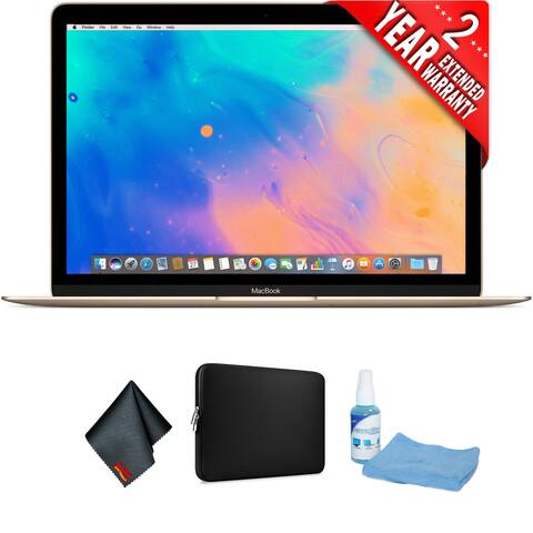 "Apple 12"" MacBook (Mid 2017, Gold) Bundle"