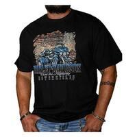 Harley-Davidson Men's Distressed Highway Short Sleeve Crew-Neck T-Shirt, Black