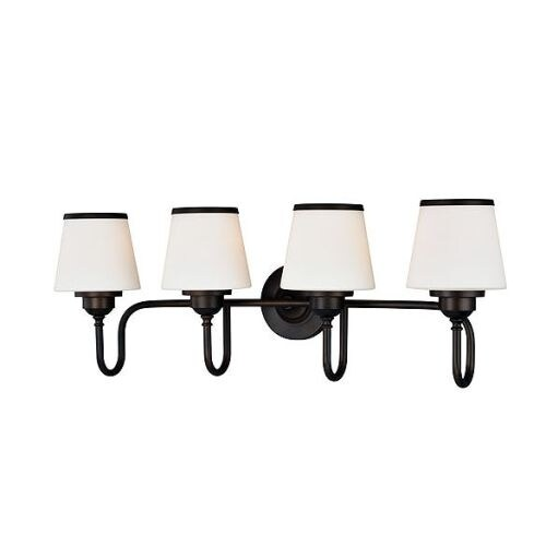 Vaxcel Lighting W0209 Kelsy 4 Light Vanity Light with White Glass Shades
