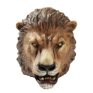 Deluxe Latex Lion Halloween Costume Mask - one adult size
