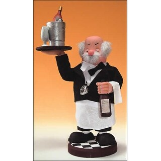 """12"""" Zims Heirloom Collectibles The Wine Waiter Christmas Nutcracker"""