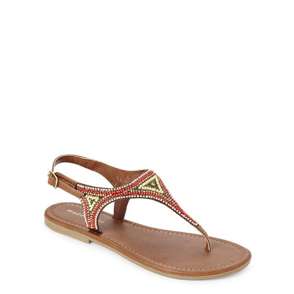 Madden Girl Womens Riddlee Open Toe Casual Slingback Sandals