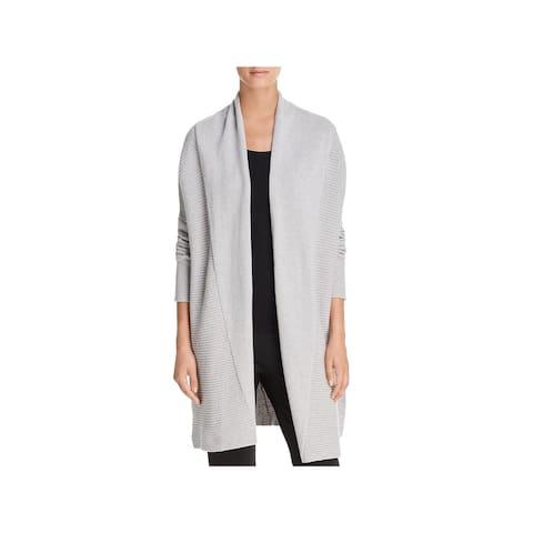 Donna Karan Womens Cardigan Sweater Wool Open Front - XS/S
