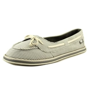 Rocket Dog Ranee Girls Moc Toe Canvas Boat Shoe