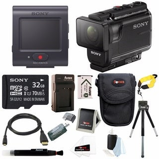 Sony AS50R Full HD 1080p Action Cam Camcorder with Live View Remote  & 32GB MicroSD Card Bundle