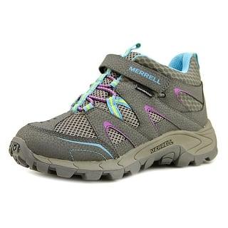 Merrell Hilltop Quick-Close WTRPF Round Toe Leather Hiking Shoe|https://ak1.ostkcdn.com/images/products/is/images/direct/5f7cea05c30444ad087e6713e0d777c4c0c2336e/Merrell-Hilltop-Quick-Close-WTRPF-Youth-Round-Toe-Leather-Gray-Hiking-Shoe.jpg?impolicy=medium