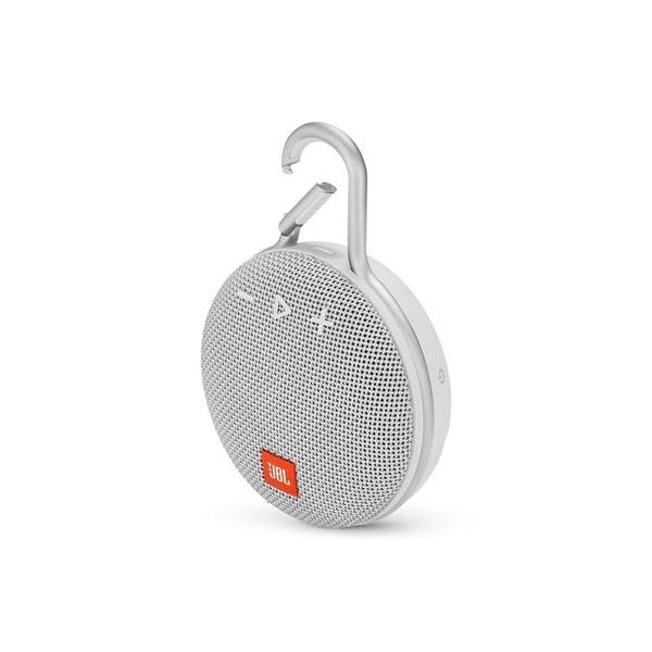 JBL Clip 3 White Portable Bluetooth Speaker