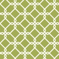 York Wallcoverings GE3629 Ashford Geometrics Threaded Links Wallpaper - yellow/green and white - N/A