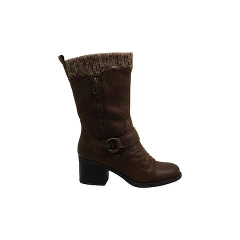 Bare Traps Womens Wylla Leather Closed Toe Mid-Calf Fashion Boots