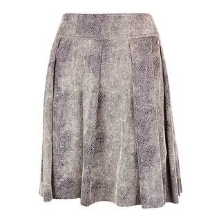 INC International Concepts Women's Snake Print A-Line Skirt - textured snake