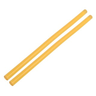 11mmx270mm Heating Gun Hot Melt Glue Adhesive Stick Yellow 2pcs