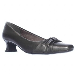 Easy Street Waive Kitten Pump Heels - Pewter