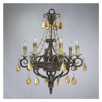 """Cyan Design 1023 25"""" Dorato Six Light Chandelier from the Decorative Vases Collection"""