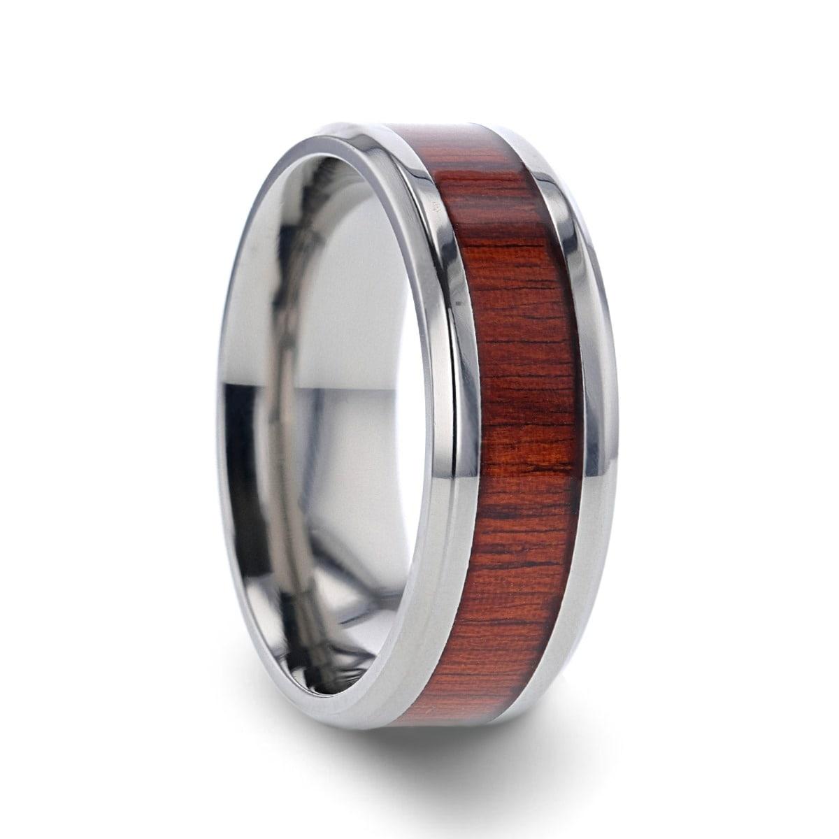 Comfort Fit 8 mm Lightweight Titanium Black Titanium Polished Finish Men/'s Domed Wedding Band Thorsten Varen Titanium Rings for Men