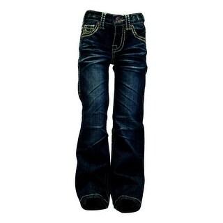 Cowgirl Tuff Western Denim Jeans Girls No Limits Whiskering Dk