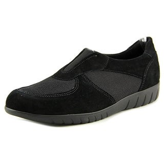 Munro American Olympia Women SS Round Toe Suede Black Loafer