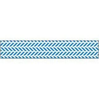 "Blue Chevron - Glitter Ribbon .625""X3yd"