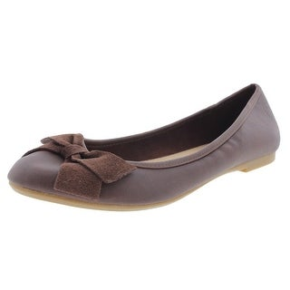 Zara Girls Faux Leather Ballet Flats - 3.5
