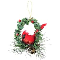 Northlight  5.25 in. Cardinal in Holly Wreath Christmas Ornament
