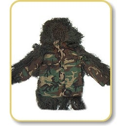 Ghillie Suits Sniper BDU Ghillie Suit Jacket - Woodland - Small - Long