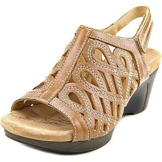 Romika Waikiki 19 Women Open-Toe Leather Brown Slingback Sandal