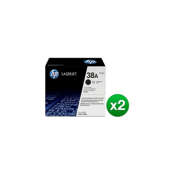 HP 38A Black Original LaserJet Toner Cartridge (Q1338A)(2-Pack)