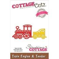 """Train Engine & Tender 1.8""""X2.3"""" - Cottagecutz Elites Die"""
