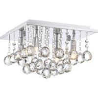 "Platinum BRX1611 Bordeaux 4 Light 12"" Wide Flush Mount Ceiling Fixture with Crystal Accents"
