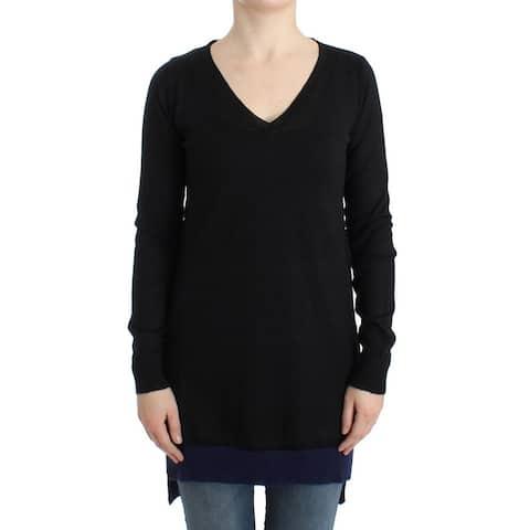 Costume National Black V-neck lightweight Women's sweater