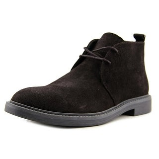Calvin Klein Jae Men  Round Toe Suede Brown Chukka Boot