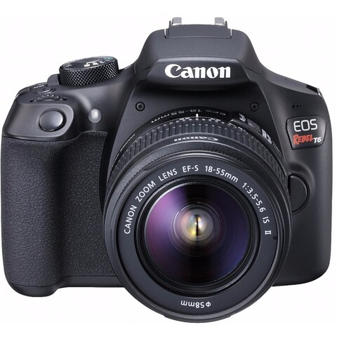 Canon EOS Rebel T6 DSLR Camera w/ EF-S 18-55mm f/3.5-5.6 IS II Lens