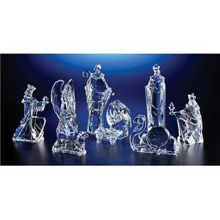 Pack of 2 Icy Crystal Religious Christmas Nativity Figurines 8.8""