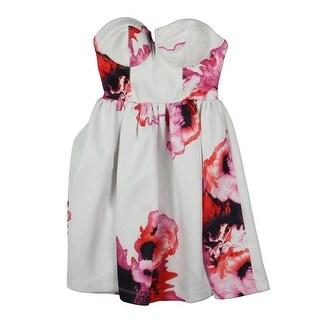 Material Girl Womens Juniors Sundress Floral Print Strapless - XXS