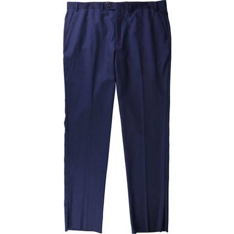 Tags Weekly Mens Woven Dress Pants Slacks, Blue, 44W x UnfinishedL - 44W x UnfinishedL