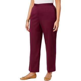 Alfred Dunner Womens Plus Dress Pants Pull On Classic Fit