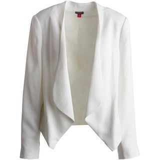 Vince Camuto Womens Textured Asymmetrical Open-Front Blazer