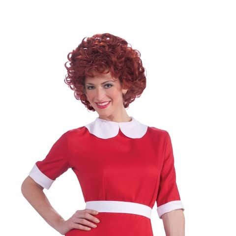 Little Orphan Annie Red Costume Wig Adult
