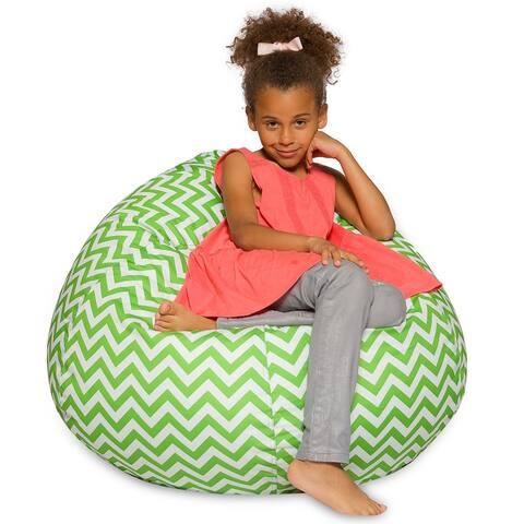 Kids Bean Bag Chair, Big Comfy Chair - Machine Washable Cover