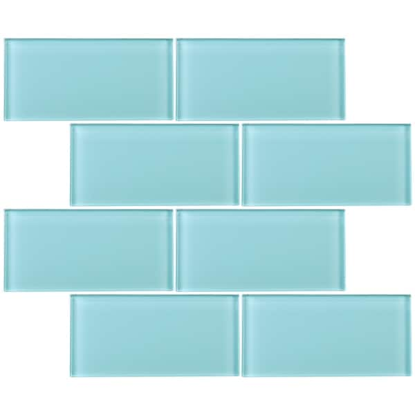 Tilegen 3 X 6 Gl Subway Tile In Ocean Blue Wall 80 Tiles 10sqft