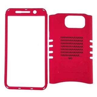Rocker Series Snap-On Protector Case for Samsung Galaxy Note 5 (Words on Red)