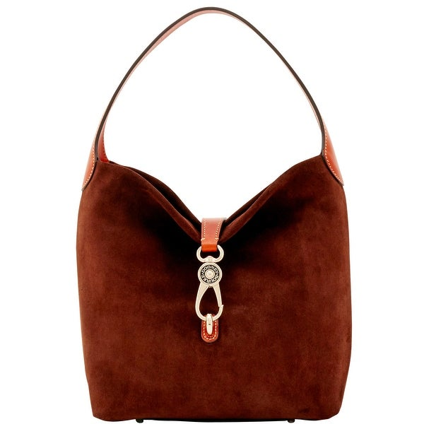 Dooney & Bourke Suede Small Logo Lock Shoulder Bag (Introduced by Dooney & Bourke at $248 in May 2017) - brown tmoro
