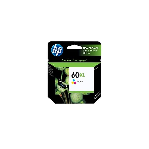 HP 60XL High Yield Tri-color Original Ink Cartridge (CC644WN)(Single Pack)