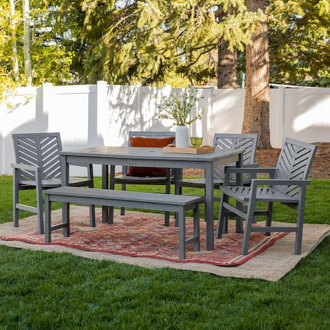 Elephant Point 6-piece Patio Chevron Dining Set by Havenside Home