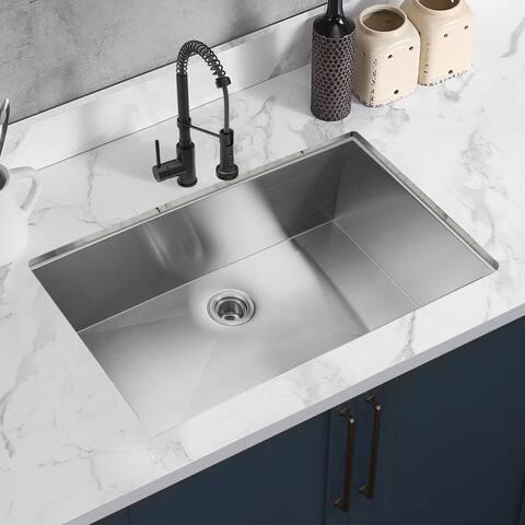 TiramisuBest Single Bowl Undermount Handmade Kitchen Sink