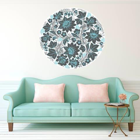 Boho Flowers Wall Decal, Boho Flowers Wall sticker, Boho Flowers wall decor