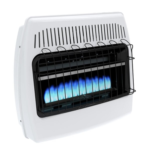 Dyna-Glo BF30NMDG 30000 BTU Natural Gas Blue Flame Vent Free Wall Heater - White